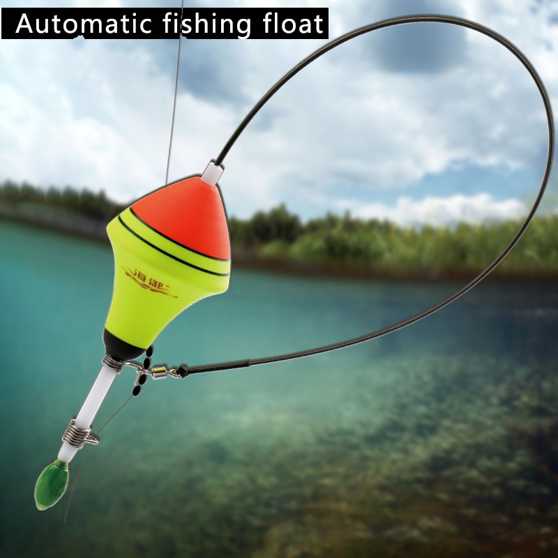 Automatic Fishing Float Long Water Drop Carp Professional Nano EVA Tackle Tool  Night Light Fishing Floats