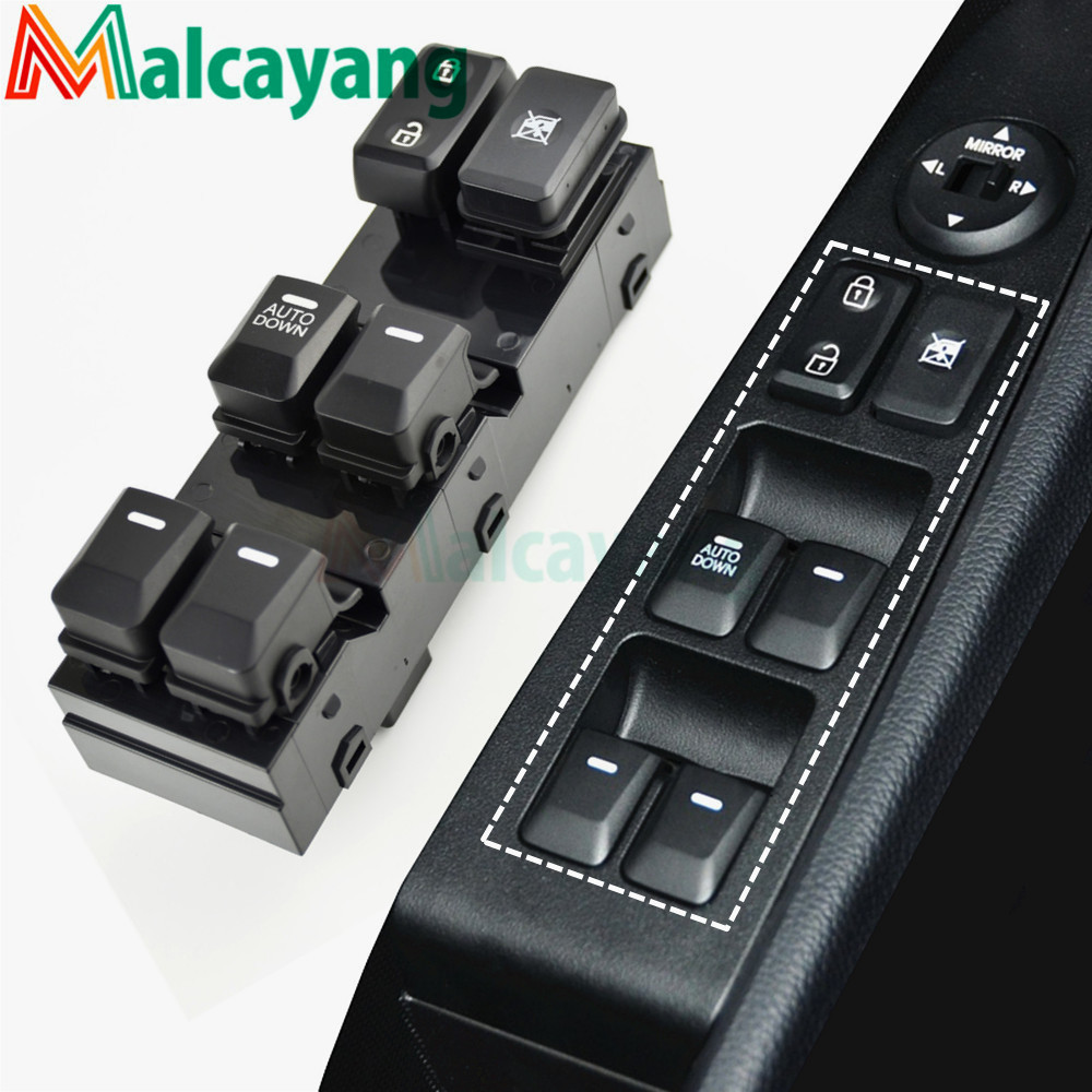 Master Power Window Switch Driver Auto Down for Kia Sportage 2011-2016
