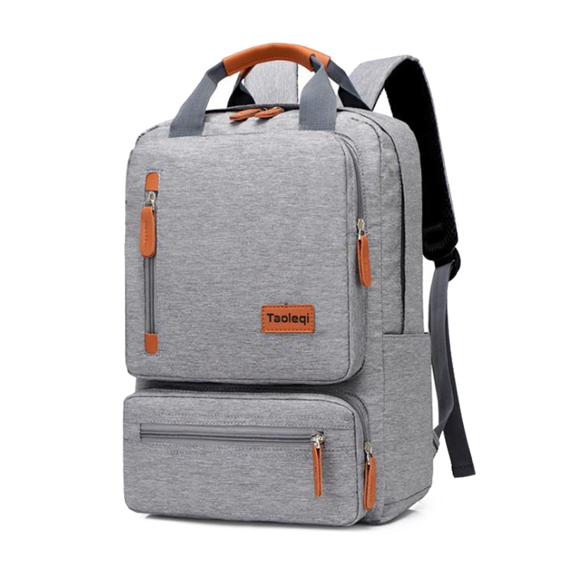 Casual Business Men Computer Backpack Light 15.6-inch Laptop Bag 2020 Lady Anti-theft Travel Backpack Gray