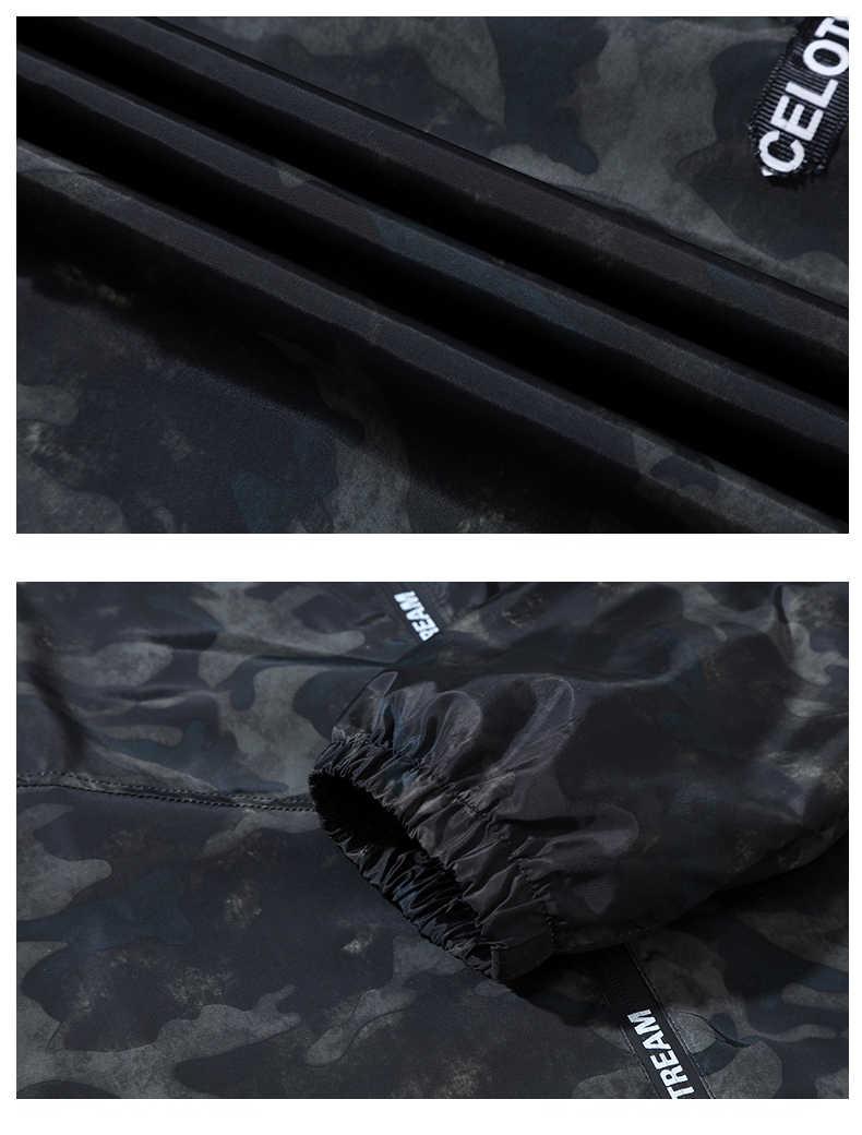 Più 10XL 9XL 8XL 7XL 6XL Autunno della Molla del Mens Casual Camouflage Con Cappuccio del Rivestimento Degli Uomini Vestiti Giacca A Vento da Uomo Cappotto Maschile outwear