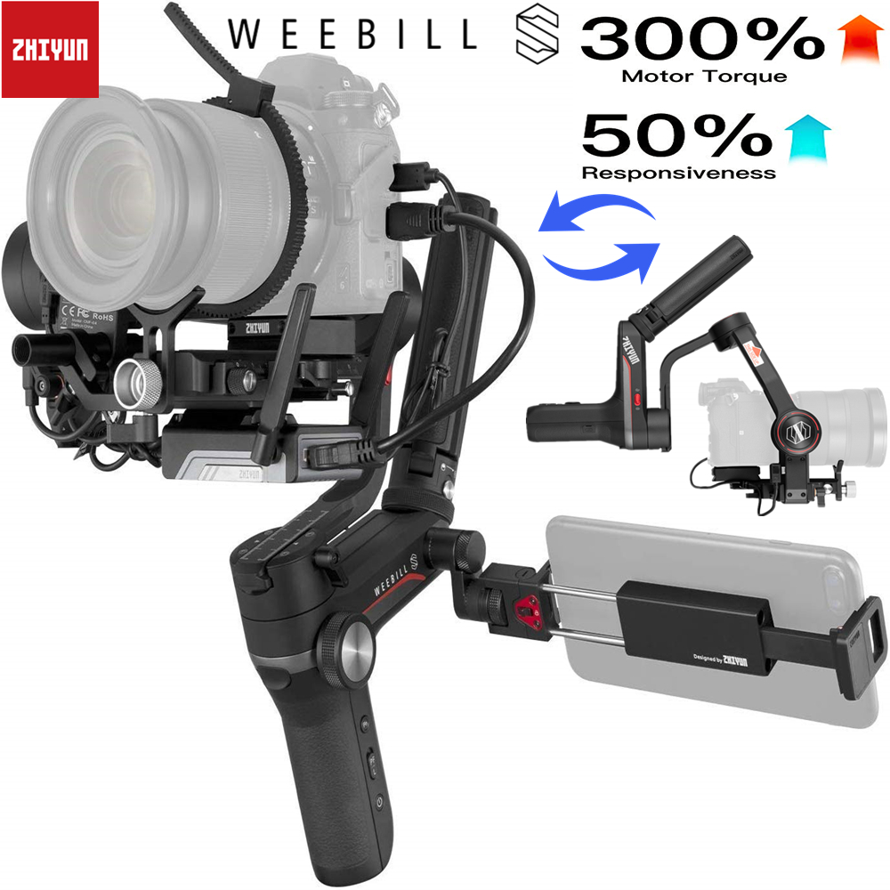 Zhiyun Weebill S DSLR Gimbal Stabilizer for DSLR  amp  Mirrorless Camera Sony A7M3 A7III A7R3 Nikon Z6 Z7 Panasonic GH5 GH5s Canon