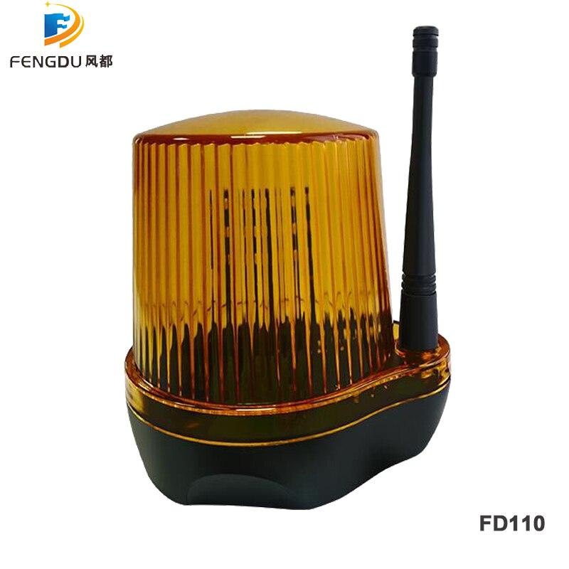 AC DC 24V  230VAC LED Light Flash Alarm Lamp For swing sliding Gate Opener Barrier Gate