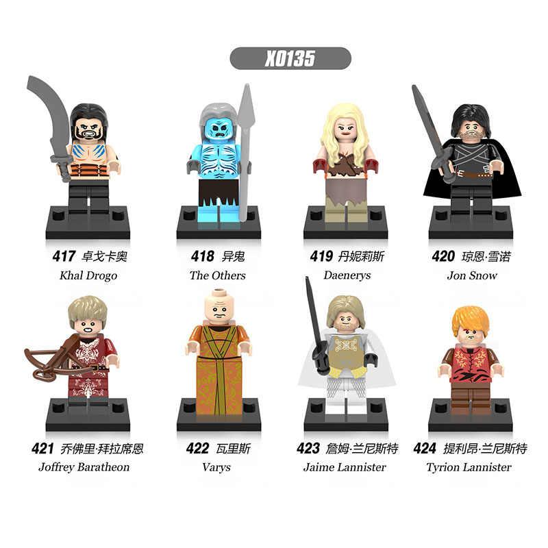 Blocos Buildig Game of Thrones Jon Snow Lorde Varys Khai Drogo Tyrion Lannister Varys Joffrey Barathron Presente Das Crianças Brinquedos X0135