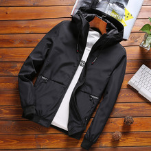 MANTLCONX 2020 Spring Men Oversized Hooded Jacket Coat 7XL 8XL Fashion Jacket Men's Hooded Casual Jackets Male Coat Thin Outwear