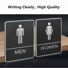 Toilet Sign Board Creative Wall Sign Decor Plate Wc Sign Wall Mounted Paste Use Restroom Door Signboard Indicator