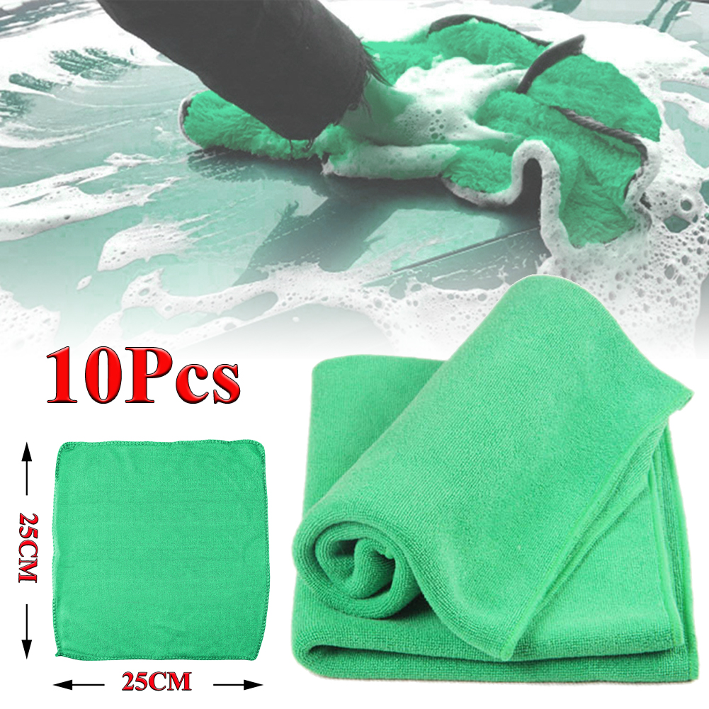10x Microfiber  Washcloth Car Wipers Cleaning  Soft  Cloth Car Towel No-Scratch Rag Polishing Detailing Cleaning Towel