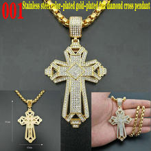 Stainless steel cross pendant Cross Jesus Pendant Hip hop hiphop stainless