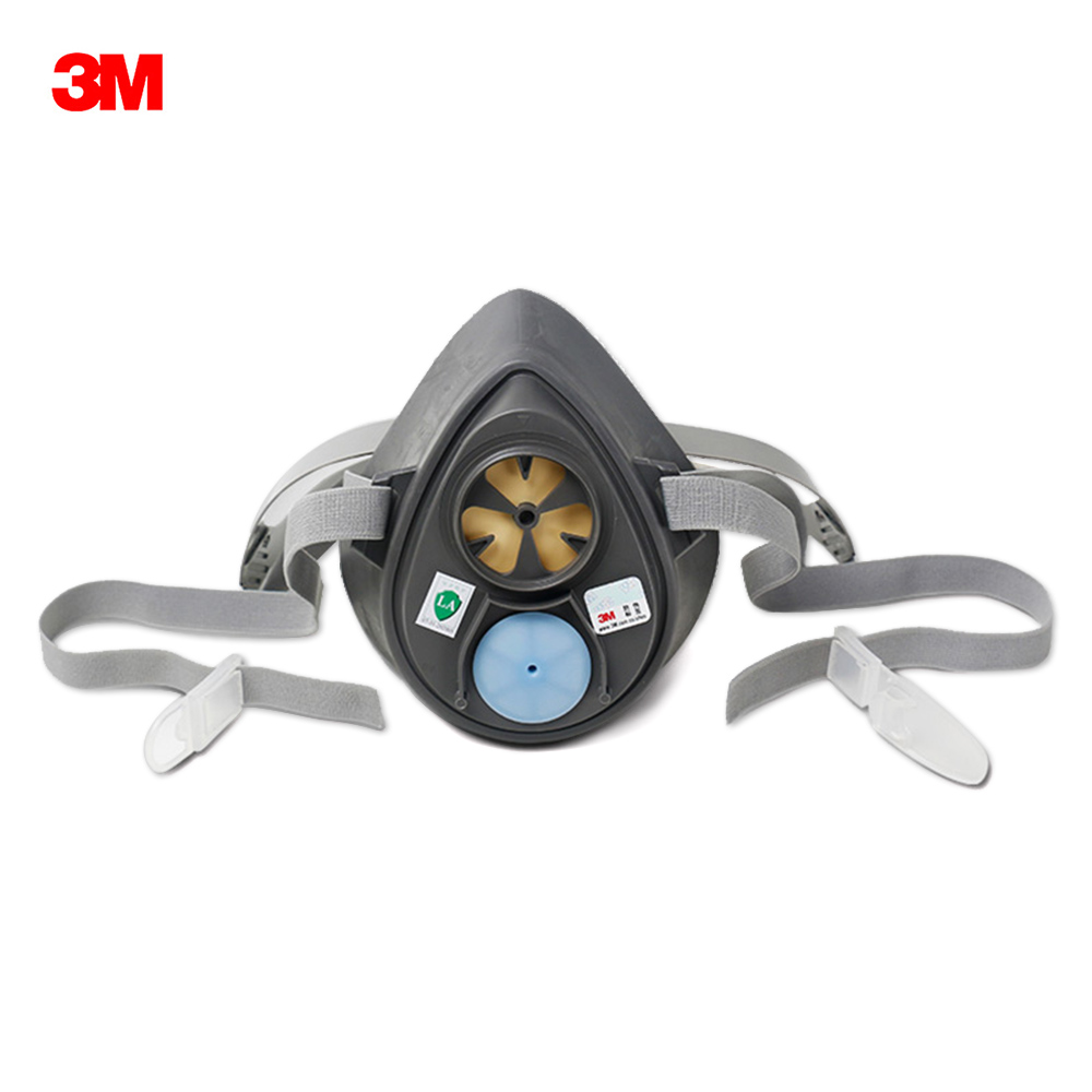 3M 3200 Dust Mask High Elasticity 3200 Main Mask Without Filter Cover And Filter Cotton Seal Protection Mask Fit Face Gray