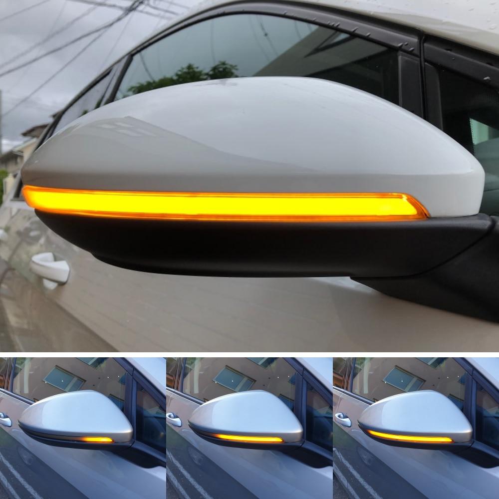 For Volkswagen Golf MK7 7 GTI R GTD Dynamic Blinker LED Turn Signal Rline Touran Mirror Light 2013 2014 2015 2016 2017