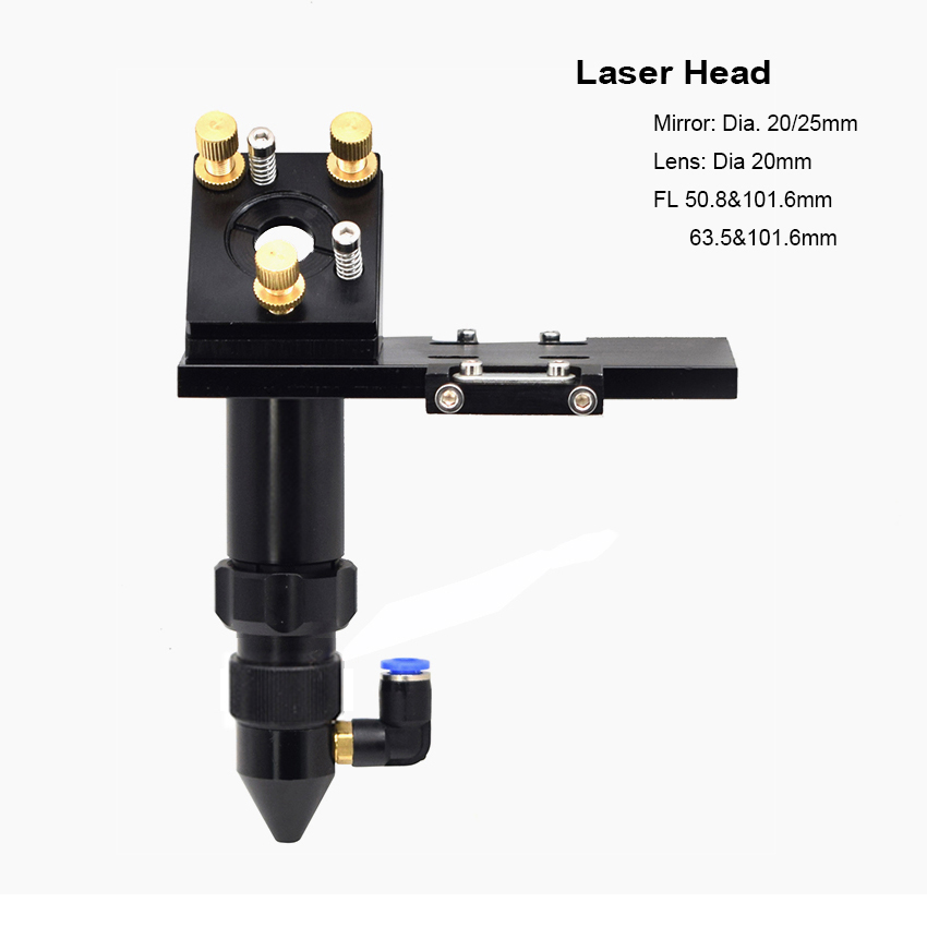 CO2 Laser Head Reflect Mirror Focus Lens Integrative Mount Holder For DIY Laser Engraver Cutter