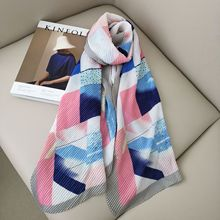 Crinkle hijab winter Women Chiffon Scarf foulard femme shawls for ladies designer luxury scarves ponchos and caps satin scarfs