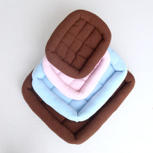 Square pet dog bed cat litter winter warm sleeping bed puppy nest soft and comfortable pet mattress(China)