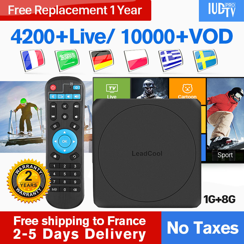 France IPTV Germany/Italy/Spain/Sweden/Greece Android 7.1 Leadcool W Germany/Italy/Spain/Sweden/Greece/France IP TV