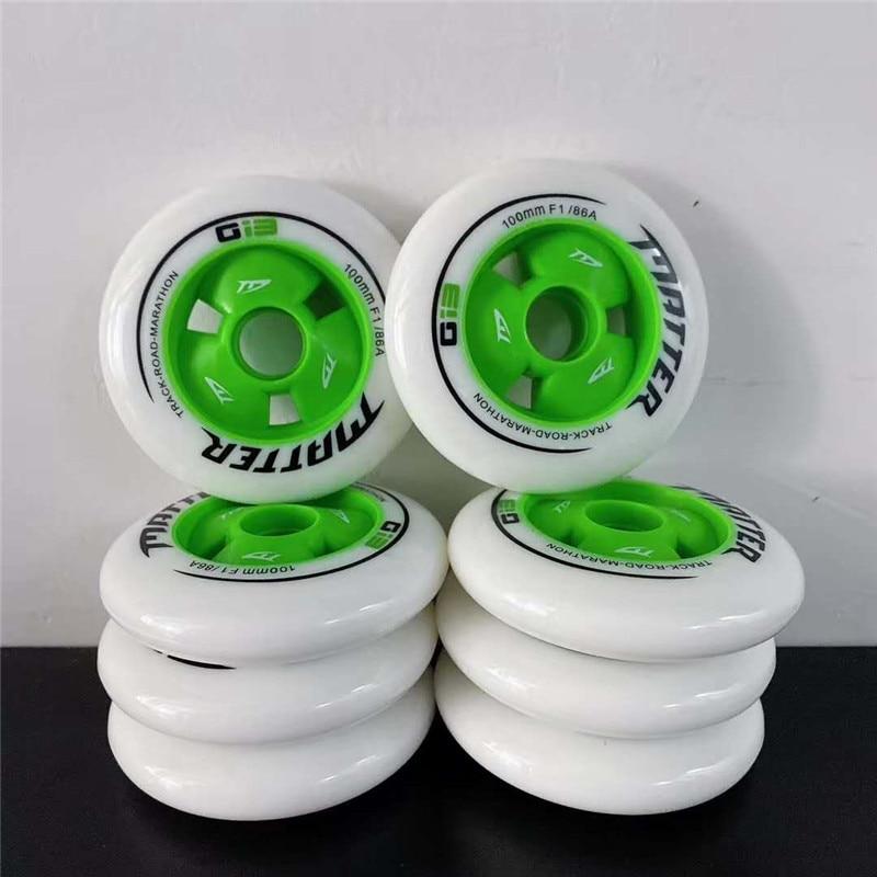 MATTER Gi3 inline speed skates tyre G13 speed skating wheels 86A 90mm 100mm 110mm Track Road Maratho