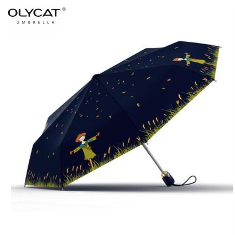 Custom The Snowman Compact Travel Windproof Rainproof Foldable Umbrella