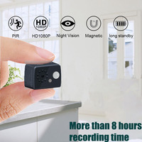 HD 1080P Mini Camcorder Camera With Pir Sensor infrared Motion Detection Camera Pocket Cop Sport cam video recorder pk sq11 sq16