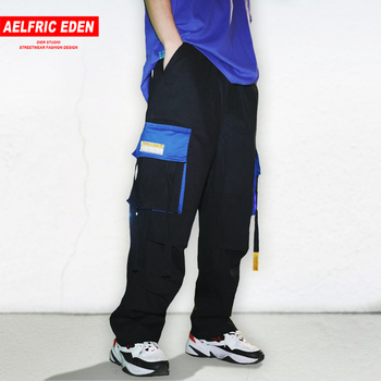 Aelfric Eden Fashion Multi Pockets Cargo Pants Mens Harajuku Hip Hop Casual Joggers Male 2019 Elastic Waist Trousers Streetwear