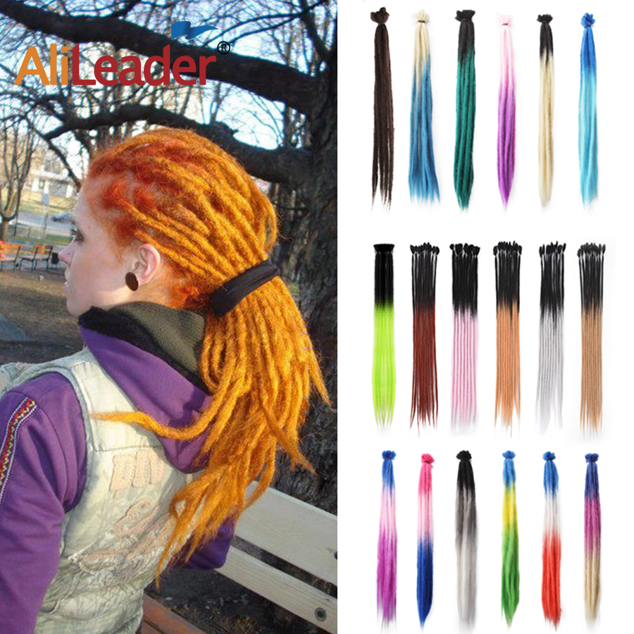 AliLeader 1Root Synthetic Ombre 100% Handmade Men Hair Dreadlocks Hair Extensions Jamaican Natural Soft Crochet Braiding Hair
