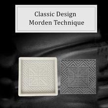40 см/15.74in хорошее качество Современный 3D Гео зигзаг и Подсолнух узор в горошек текстура квадратный сильный ABS бетона толстой плитки плесень