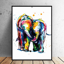 5D Diamond Embroidery Elephant mother and child DIY square/round Diamond Painting Cross Stitch Mosaic Rhineston Home decor W0341(China)