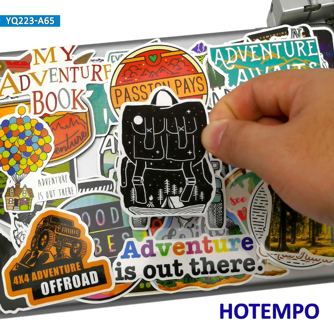 60pcs Adventure Travel Explore World Camping Wilderness Outdoor Enjoy Journey Stickers For Mobile Phone Laptop Luggage Stickers
