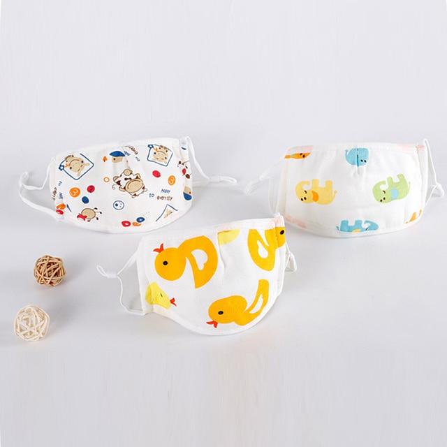 5PCS For 0-12 Years old Kids Cotton Mask Children Face Masks Washable&Reusable Student Kids Adjustable Mask 2
