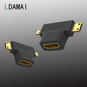 Micro HDMI to HDMI Adapter HD Micro Mini HDMI Male to HDMI Female Cable Connector Converter For Tablet Camera Extender Coupler