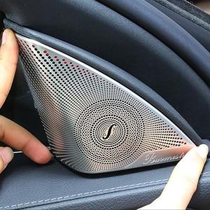 2pcs Car Door Audio Speaker Decorative Cover For Mercedes Benz C Class W205 C320 C180 C200 C300 C205 Trim Sticker Accessories