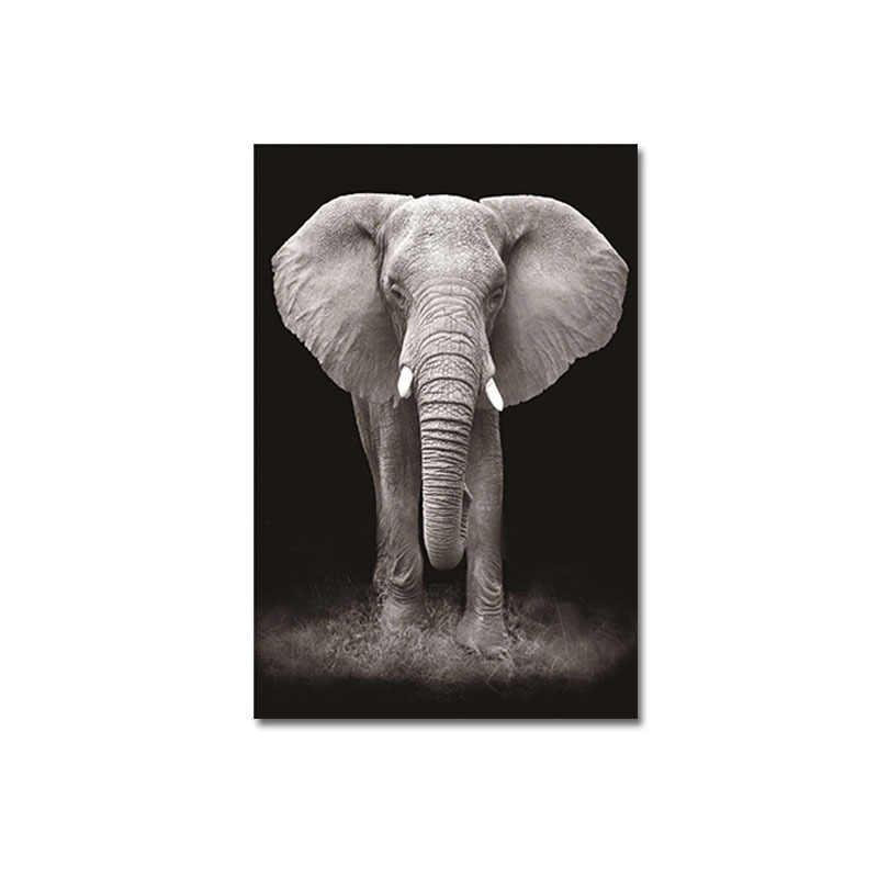 شعبية الغزلان الملصقات جدار الفن قماش الأسد جدار صور لغرفة المعيشة زيبرا 1 قطعة الحيوان الفيل اللوحة ديكور المنزل
