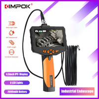 KIMPOK Endoscope camera NTS300 4.3 LCD Display Monitor Snake Inspection Endoscope 6 LEDS Borescope 1/3/5M Tube Camera