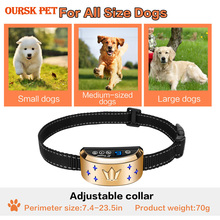 Chargeable Dog Training Collar With LED Electric Shock Vibration Sound For Pet Dogs Anti-Barking Training Collar Pet Supplies