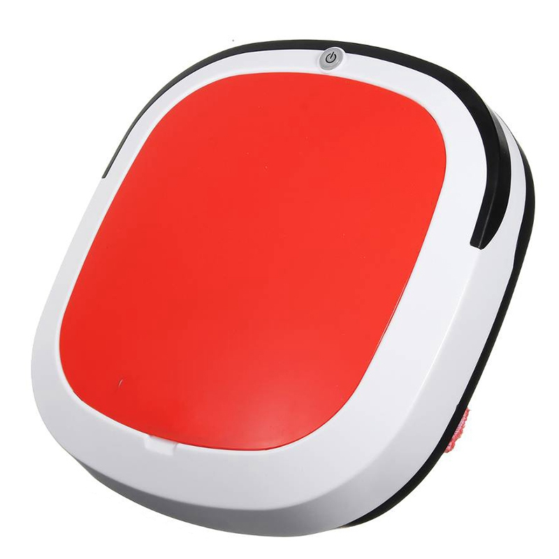Rechargeable Smart Robot 2000Pa Vacuum Cleaner Dry Wet Sweeping Cordless Auto Dust Sweeper Machine For Home Cleaning Red Eu Plug