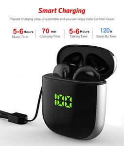 Image 3 - TWS Bluetooth 5.0 Earphones LED Display Mini Earbuds QI Wireless Charging Box Binaural HD Call Earbuds IPX5 Waterproof