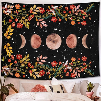 Tapestry Art Print Tapestry Starry Sky Carpet Moon Tapestries Wall Hanging Decor Home Room Tapestry 5 Sizes Wall Tapestry plank pumpkin print halloween wall tapestry