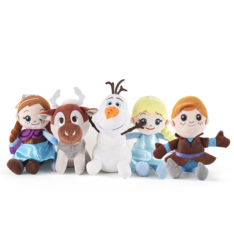 20cm Disney Frozen 2 Feve Anna Elsa Princess Snowman Plush Toys Stuffed Plush Doll Soft Stuffed Animals For Children's Birthday