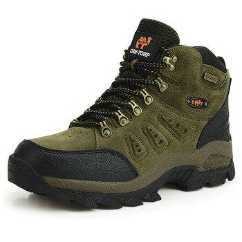 Outdoor Waterproof Hiking Boots Men Women Winter Shoes Walking Climbing Hiking Shoes Mountain Sport Boots Hunting Mens Sneakers 4