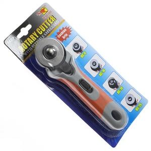 45mm rueda de rodillo de retazos cuchillo redondo cuchilla para corte de tela cuchillo de rodillo telas de cuero cortador rotatorio para telas de cuero