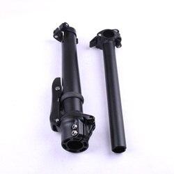 Rower składany macierzystych Aluminium składany uchwyt stojak Standpipe MTB Bike podwójnie regulowany uchwyt stojak część rowerowa 28.6mm 25.4mm