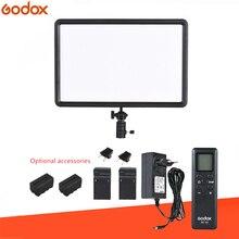 GODOX panel de luz de vídeo LED para estudio, fotografía, maquillaje, YouTube INS FB + batería opcional 2xF750, ultrafino, LEDP260C, 30W