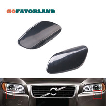 L R Pair Front Bumper Headlight Washer Nozzle Jet Cover Unpainted 39870059 39870060 For Volvo S80 2007 2008 2010 2012 2013