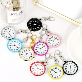 Boys Girls Key Chain Watch Charming Cute Keychain Jewelry Bag Key Holder Hanging Pocket Watch Young People Fashion Gifts Ulzzang