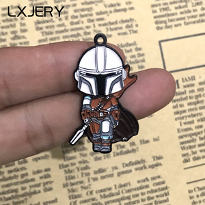 LXJERY Cartoon Enamel Star Wars Pins Badge On Backpack Mandalorian Brooch Pins For Clothes Broche For Girls