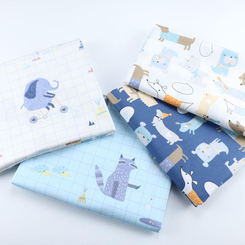 Twill Dog Cloth Make Bedding Pajamas Clothes Curtain Fabric 160cm X50cm Pure Cotton Fabric Other Fabric Plain Printed Warp