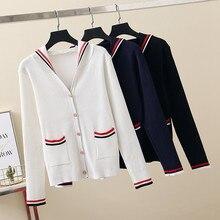 Cárdigan de manga larga para mujer, suéter de moda coreana Y2k, ropa con Capucha de punto de talla grande, Kawaii, coreano, 2021