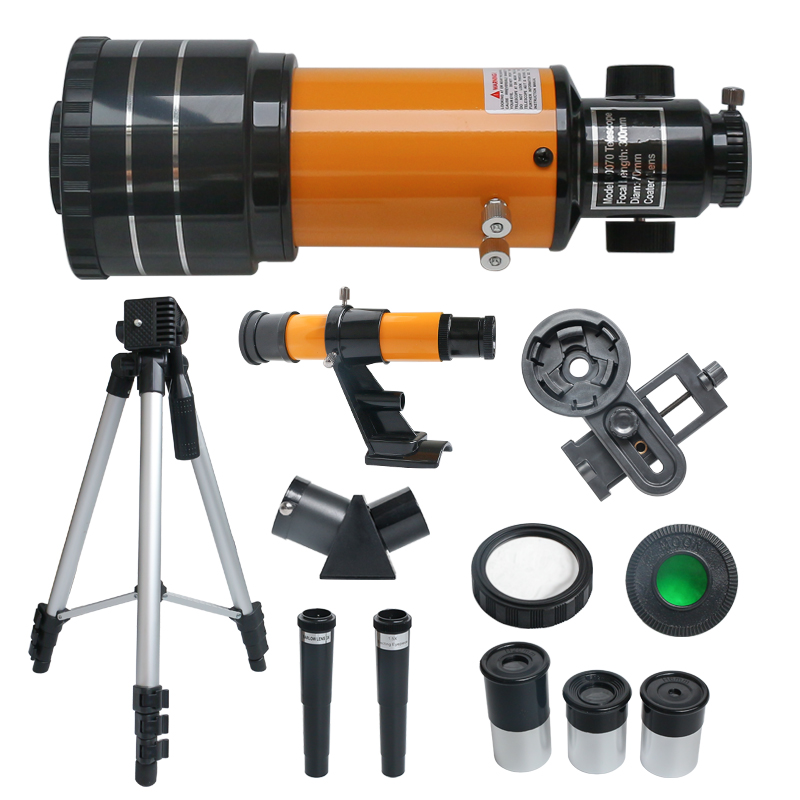 150X Phone Telescope Astronomical DIY  150X Kit Present HD Telescope Outdoor Refractive Vision Student Clip With Night Kids