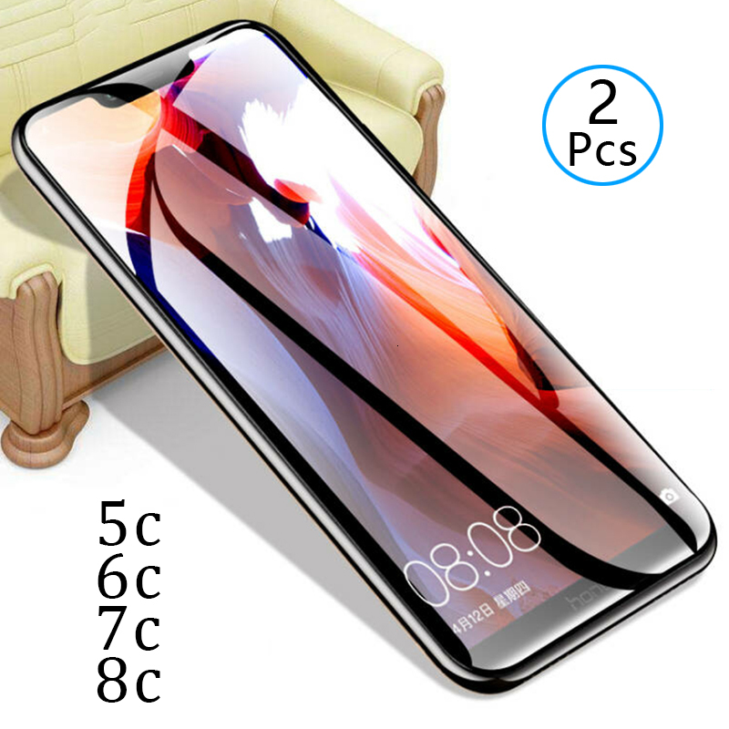 2pcs Tempered Glass On Honor 8c 7c 6c Pro 5c Protective Glass Screen Protector Phone Safety Tremp For Huawei 8 7 6 5 C C8 C7 C6