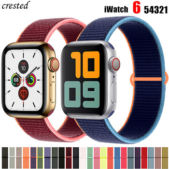 crested sport nylon band for apple watch 3 42mm 38 mm wove nylon watch strap for iwatch series 3 2 1 wrist bracelet watch band Strap For Apple watch band 40mm 44mm iWatch serie se 5 4 3 38/42mm watch band belt Sport bracelet Apple watch 6 Nylon Loop band