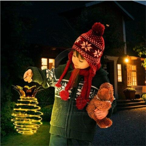 ar livre quintal natal de fadas fio portatil artista decora