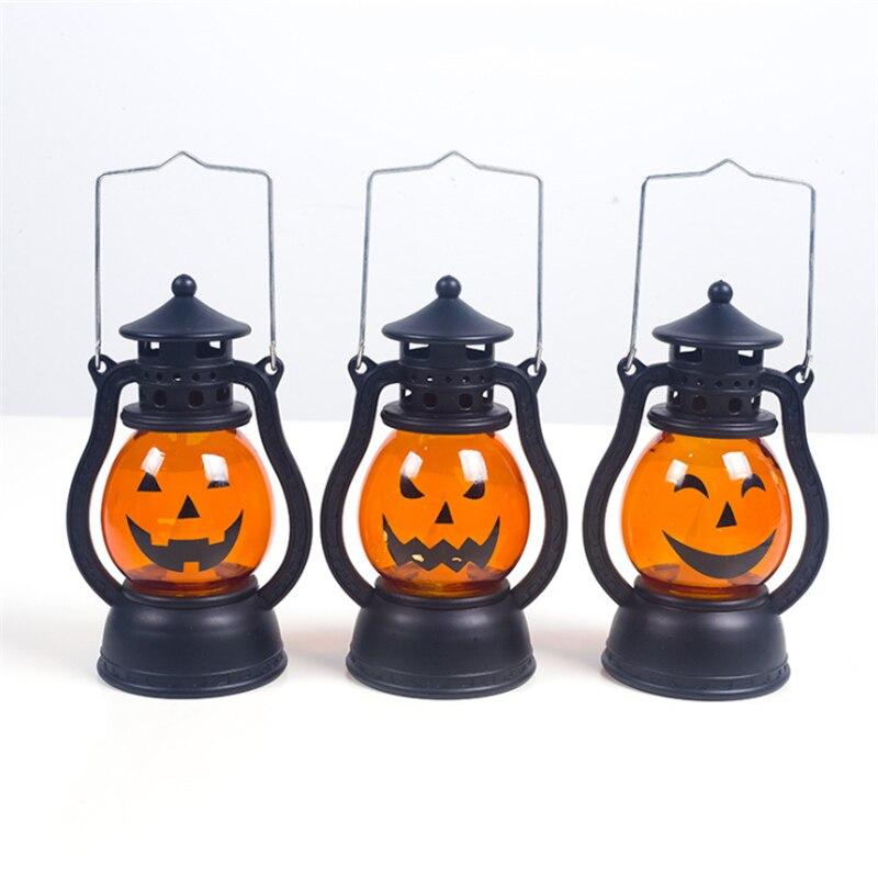Halloween Kerosene Pumpkin Lamp Decoration Night Light Festival Creative Lampara Holiday Evil Pumpkin Table Lamp Room Decor