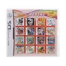 468 في 1 تجميع لعبة فيديو بطاقة خرطوشة لنينتندو DS 3DS 2DS سوبر كومبو متعدد العربة